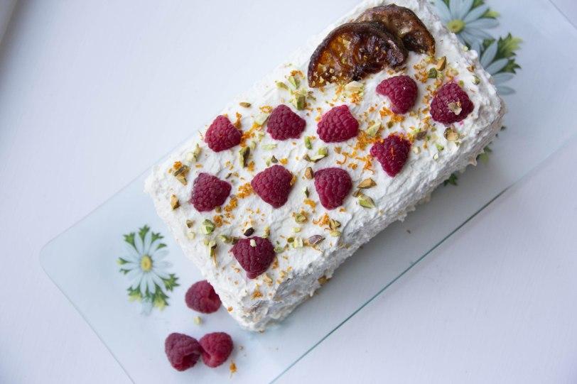 Pistachio Cake with Meyer Lemon-Mascarpone Frosting & Fresh ...